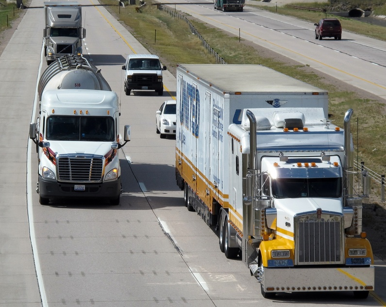 Current rules ban trucks weighing 80,000 to 100,000 pounds from interstate roads in Maine that are not part of the Maine Turnpike.