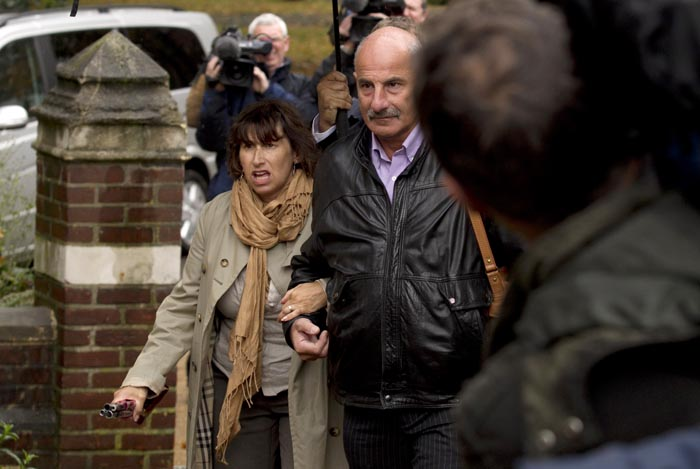 Amy Winehouse's mother Janis, left, arrives today at St. Pancras Coroner's Court in London for a hearing into the singer's death.