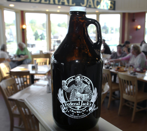 Generally speaking, people buy growlers at brewpubs like Federal Jack's in Kennebunk, where they're filled with beer and capped. After the growlers are brought home, the beer will stay good for two to five days once opened.