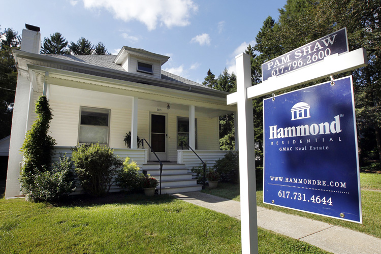 A home for sale in Newton, Mass., recently. Mortgage rates have been below 5 percent for all but two weeks in the past year and have done little to boost home sales.