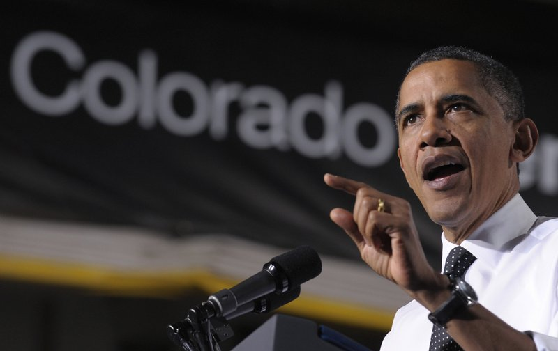 President Obama speaks about managing student debt during an event at the University of Colorado Denver Downtown Campus in Denver last week. Denver was the final stop on a three-day trip to the West Coast for fundraising and speeches promoting his American Jobs Act.