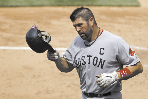Boston catcher and team captain Jason Varitek said the Red Sox collapsed in September because