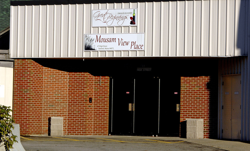 An operator of the banquet hall at Mousam View Place in Sanford, above, has told town officials that the venue will stop hosting sex parties for a Web-based swingers' club.