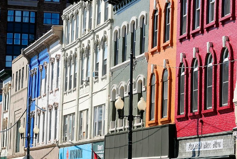 A SPLASH OF COLOR: Several buildings in downtown Augusta have been changed from white to a variety of bright, historic colors — a change that didn't happen by accident. It wasn't something any of the Augusta businesses had planned until they coordinated their paint jobs with each other through the Augusta Downtown Alliance, a group of advocates for the city's downtown.