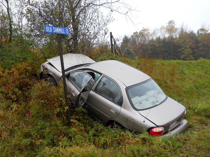 Christine I. Byrd was injured when she lost control of her car, hit a series of mailboxes and ended up on an embankment.