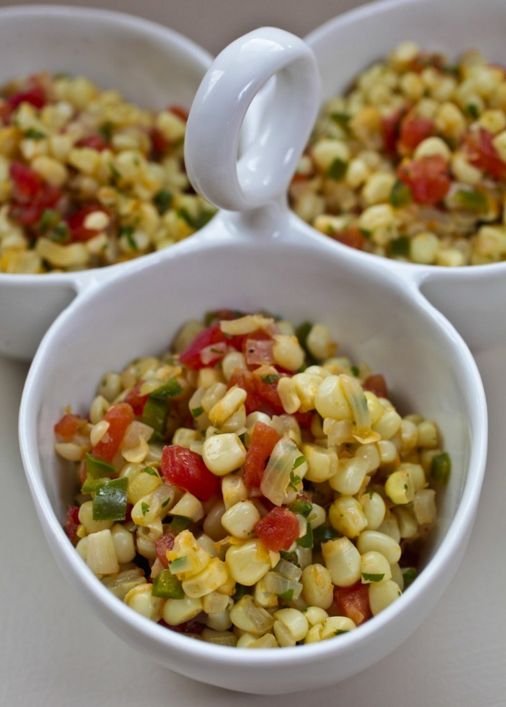 Corn cut from the cob is the top choice for Jalapeno Corn Saute, but frozen, defrosted kernels can also work.