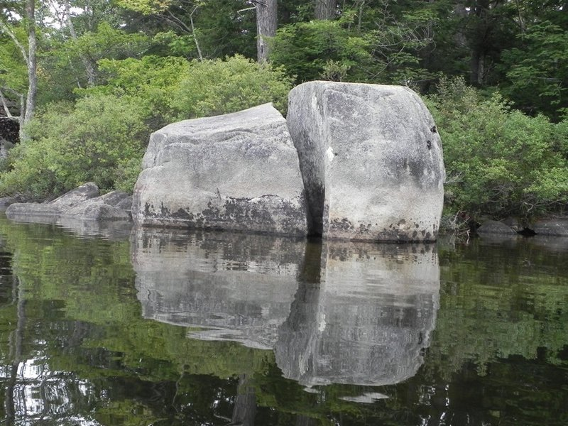 Large boulders left by long-ago glaciers line the shore and the bottom of Keoka Lake in Waterford. There's also plenty of bird life on the lake.