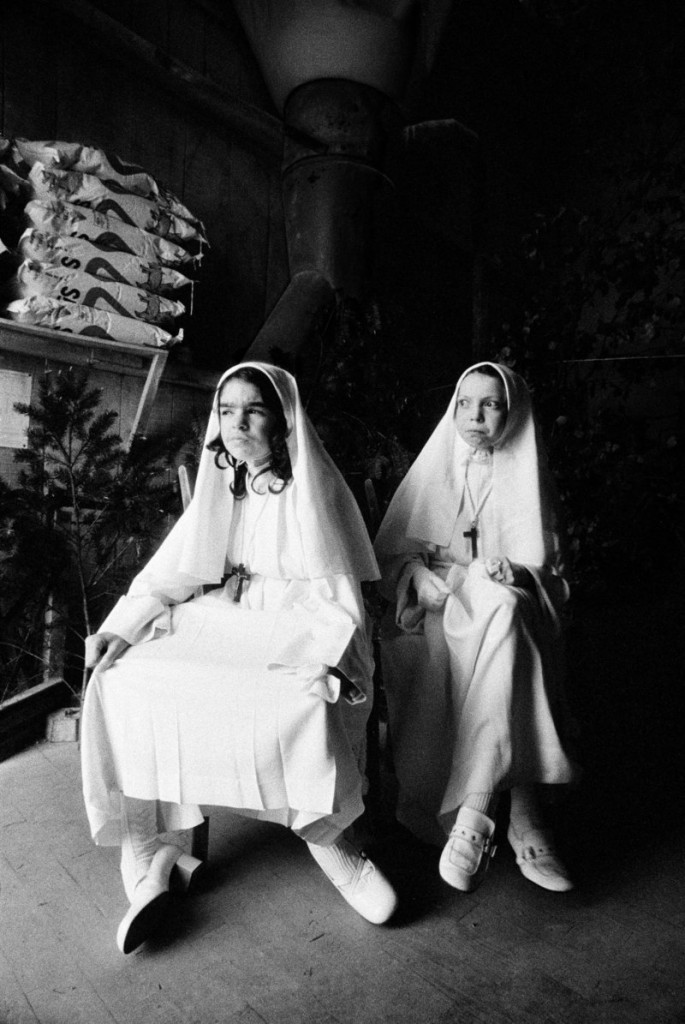 """Christine and Collette – First Communion,"" 1947. Madeleine de Sinety has spent many years photographing the people and landscape of the Brittany region of France. Also in ""Madeleine de Sinety: Photographs"" at the Portland Museum of Art are images she captured in Uganda and in rural Maine."