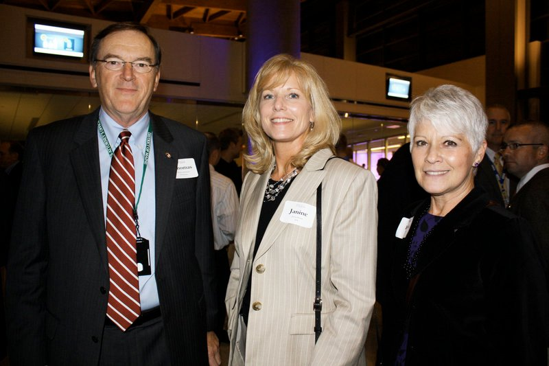 U.S. Attorney Tom Delahanty, Janine Hodel, the stakeholder manager for the Transportation Security Administration in Maine, and Linda Cohen of Portland.
