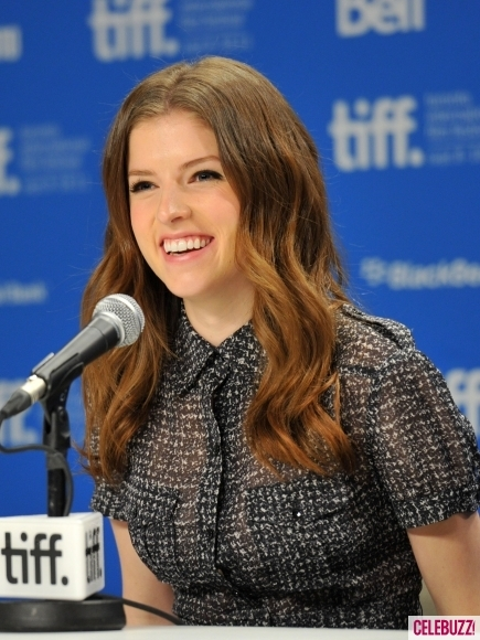 Anna Kendrick fielding questions from the press at the screening of the film during the recent Toronto International Film Festival.