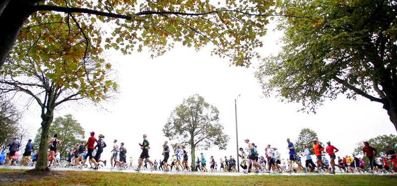 You can bet rain and wind were not the conditions most runners hoped for as they began their races along Back Cove on Sunday, but they ended up working through plenty of both.