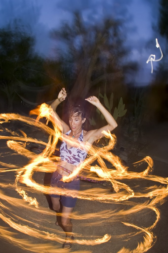 Don't try this at home, but on Maine Hoop Day – among other attractions – you can watch the experts hula with lights and flame during the sunset LED/fire jam.