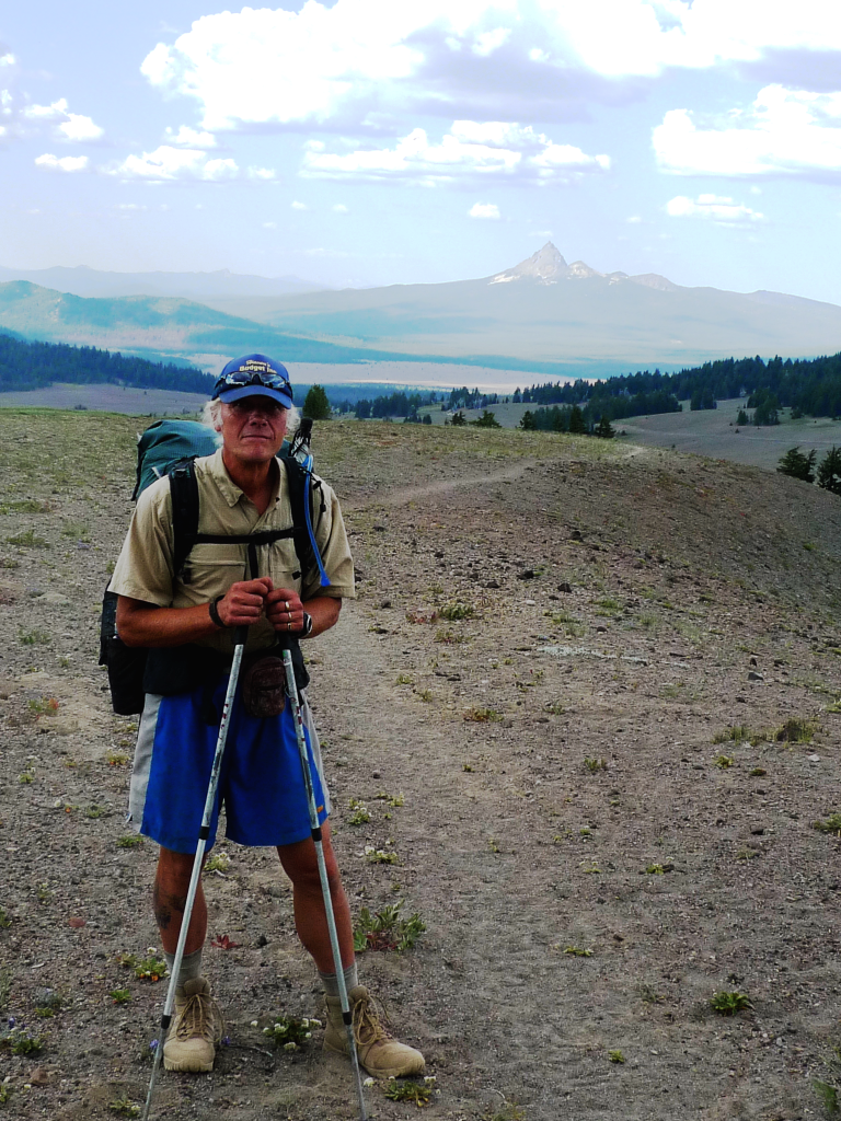 Tom Jamrog of Lincolnville, shown in Oregon, spent five months hiking the 2,700-mile Pacific Crest Trail last year.