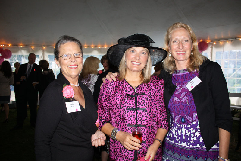 Leslie Ware, who served on the party's executive committee, Teri Hutchins of York and volunteer Barb Green, who works in the hospital's emergency department