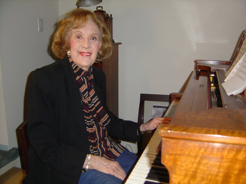 "Marian McPartland at home in Port Washington, N.Y., during filming in 2007 of ""In Good Time: The Piano Jazz of Marian McPartland,"" which will be shown at 7 p.m. Thursday at Hannaford Hall on the USM campus in Portland."