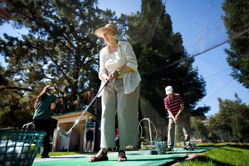 Residents of Silverado Senior Living enjoy a golf outing at Deep Cliff Golf Course.