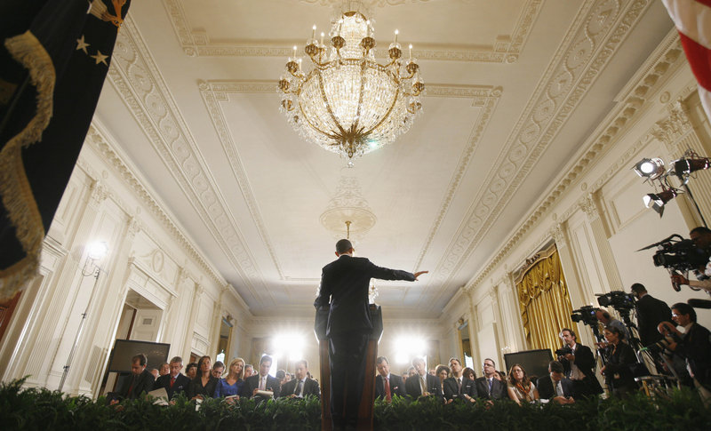 President Obama spent most of his 73-minute news conference in the East Room talking about his jobs plan. As he spoke, House Speaker John Boehner, R-Ohio, complained that Obama has been using the plan as a campaign vehicle.