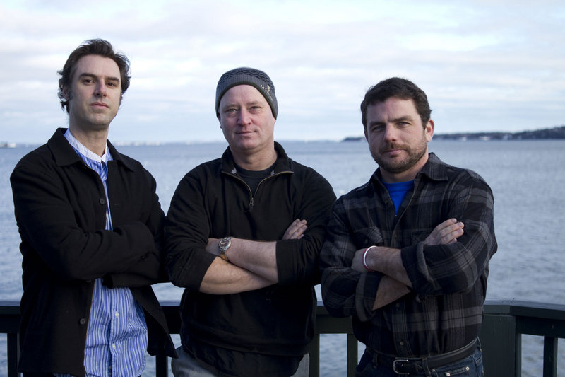 "Daniel Stephens, cinematographer; Joel Strunk, director and screenwriter; and Ryan Post, producer of ""Anatomy of the Tide."""