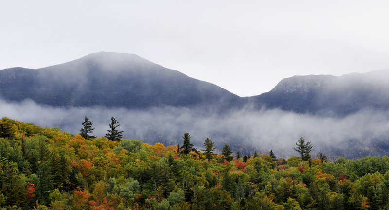 Every five years or so, there's snow on Bigelow Mountain on Columbus Day, John Christie writes. Not this year, though.