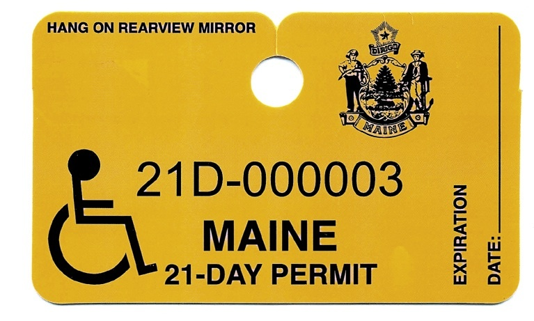 Authorized medical personnel can now give out this temporary placard, cutting through red tape.