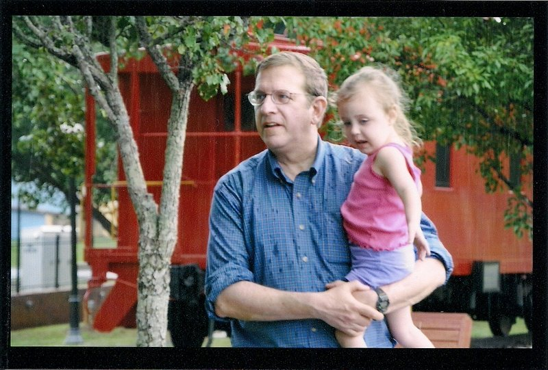 Stephen Aylward visits his granddaughter, Shelby Dyer, in Georgia last year. Mr. Aylward died in a car crash Thursday.