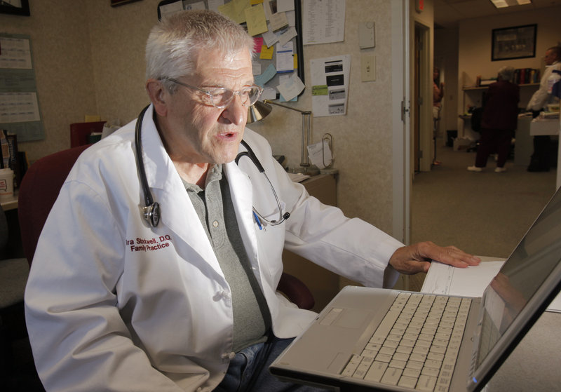 Dr. Ira Stockwell and his office regularly check the prescription monitoring database and have patients sign a drug contract in their efforts to prevent illegal use of painkillers.