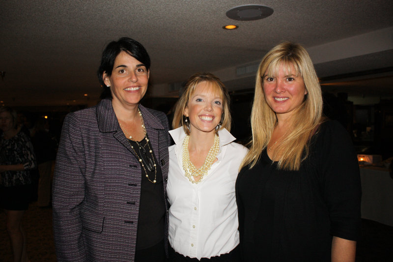 Erin O'Connor Jones, Maine chapter president of the March of Dimes, Rebecca Spear, event committee chair, and Amy Carlisle, chair of the Maine chapter board.