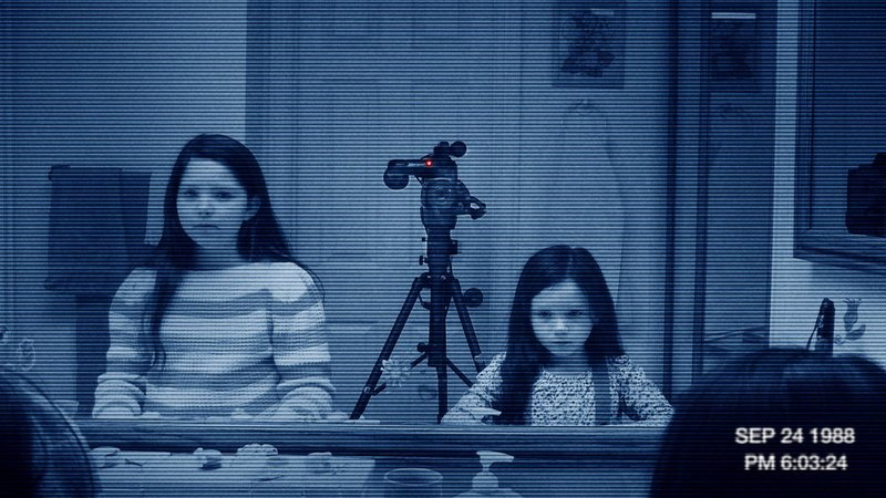 """Chloe Csengery and Jessica Tyler Brown in the third installment of the """"Paranormal Activity"""" franchise, in which an evil spirit pursues a family in their own home."""