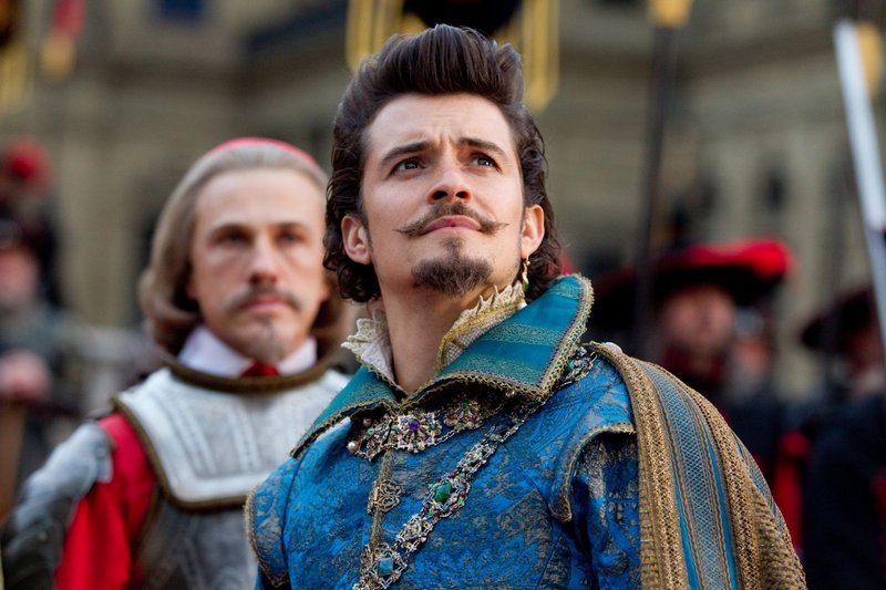 Orlando Bloom, foreground, and Christoph Waltz.