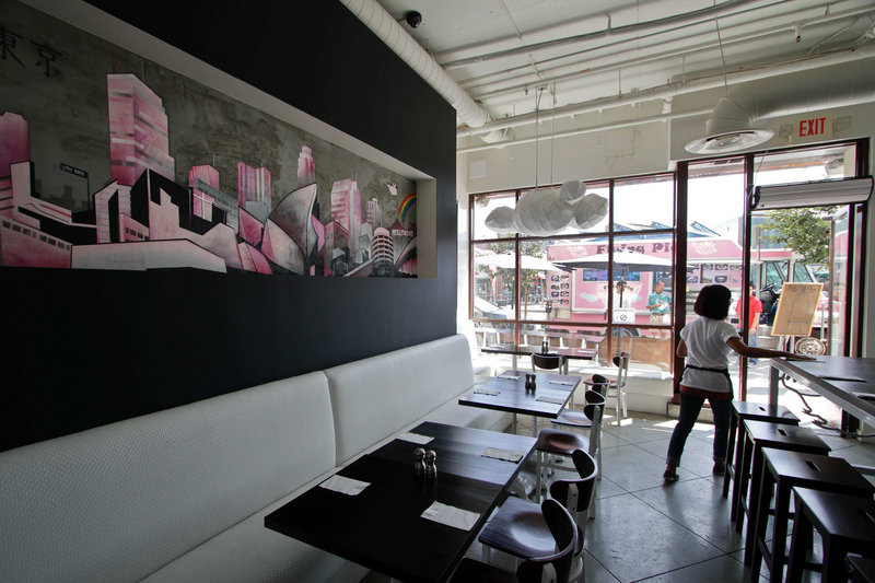 Joe Kim, owner of the Flying Pig restaurant in Los Angeles, Calif., said it would have been difficult to launch the restaurant without first gaining popularity with his food truck.