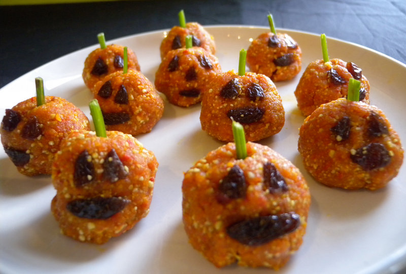Pumpkin Bites are an easy way to satisfy Halloween sweet seekers while helping them stay healthy.