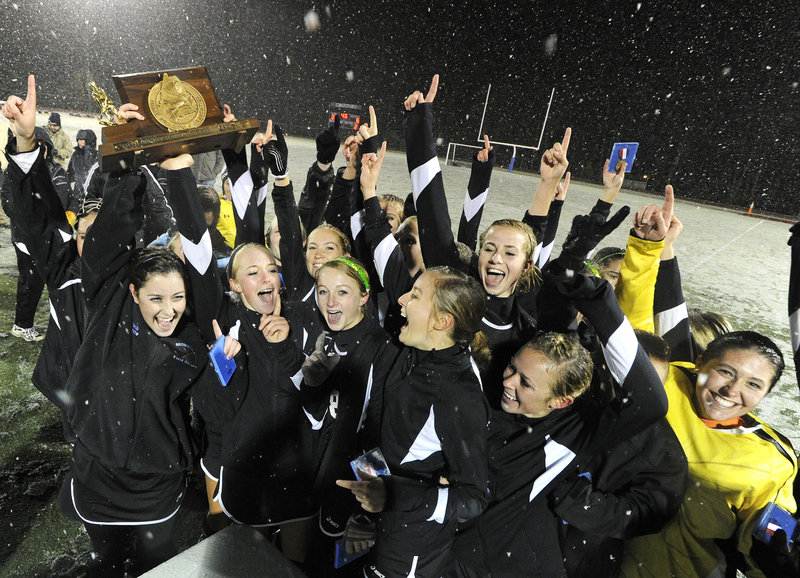 Sometimes the weather is nice and sometimes it isn't. Doesn't matter to the Skowhegan field hockey team, which beat Marshwood 5-0 to extend its dominance in Class A.