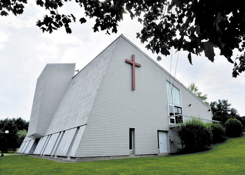St. Andrew's Roman Catholic Church in Augusta, above, and St. Leo's in Litchfield have been put up for sale.