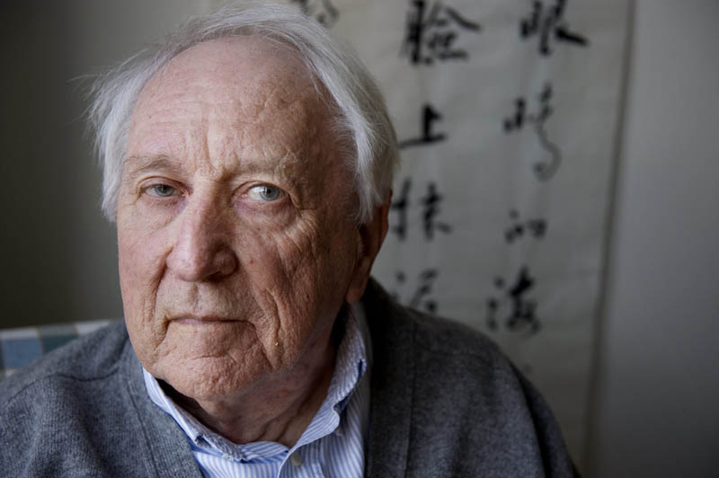 In this March 31, 2001 file photo, Swedish poet Tomas Transtromer poses for a photograph in his home in Stockholm, Sweden. The 2011 Nobel Prize in literature was awarded Thursday, Oct. 6, 2011 to Tomas Transtromer, a Swedish poet whose surrealistic works about the mysteries of the human mind won him acclaim as one of the most important Scandinavian writers since World War II.