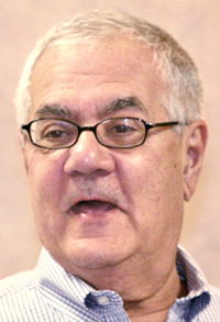 U.S. Rep. Barney Frank, D-Mass., addresses attendees of the Maine Medical Marijuana Expo in Portland on Feb. 26, 2011.