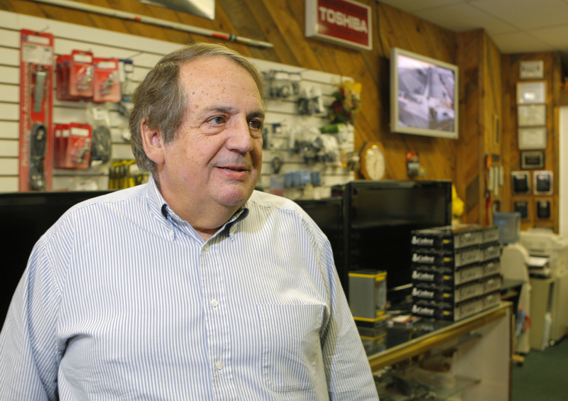 Grady Sexton, shown at his store, Grady's Radio & Satellite TV downtown Biddeford, is a long-time supporter of bringing some type of casino gambling to Biddeford.