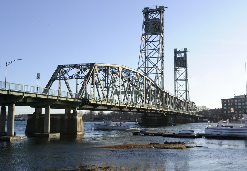 The former Memorial Bridge between Kittery and Portsmouth, N.H., was closed in 2010 due to unsafe conditions.