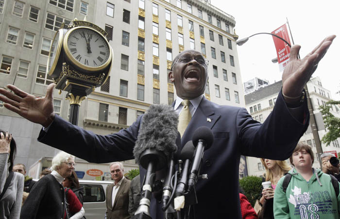 Republican presidential candidate Herman Cain in an Oct. 3, 2011, photo.