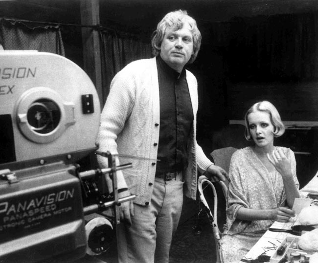 "Film director Ken Russell with British model Twiggy during the filming of the movie ""The Boy Friend,"" in August 1971. Russell's daring and sometimes outrageous films often tested the patience of audiences and critics. His films included ""The Music Lovers"" in 1970, ""Lisztomania,"" and the rock opera ""Tommy"" in 1975."