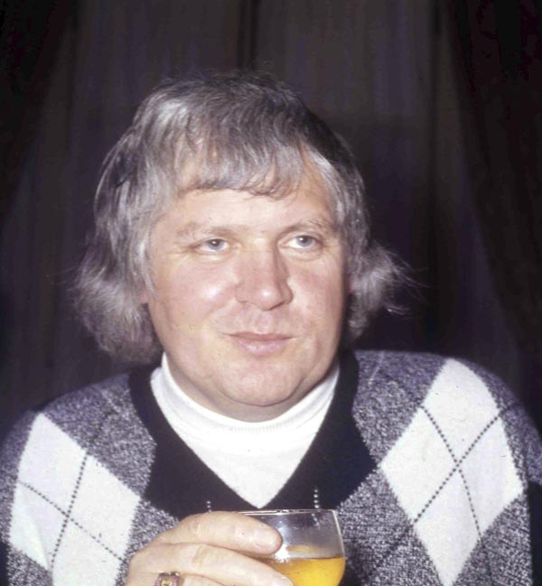 "Film director Ken Russell at a reception for the premiere of ""The Boy Friend."""