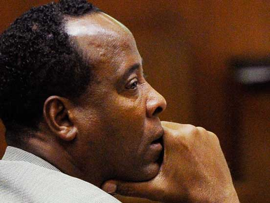 FILE - In a Thursday, Nov. 3, 2011 file photo, Dr. Conrad Murray listens as defense attorney Ed Chernoff, not pictured, gives the defense's closing arguments during the final stage of Conrad Murray's defense in his involuntary manslaughter trial in the death of singer Michael Jackson at the Los Angeles Superior Court in Los Angeles, Calif. The juryis set to resume deliberations Monday, Nov. 7, 2011 after spending their first day in discussions Friday without reaching a verdict. (AP Photo/Kevork Djansezian, Pool, File) Human Interest