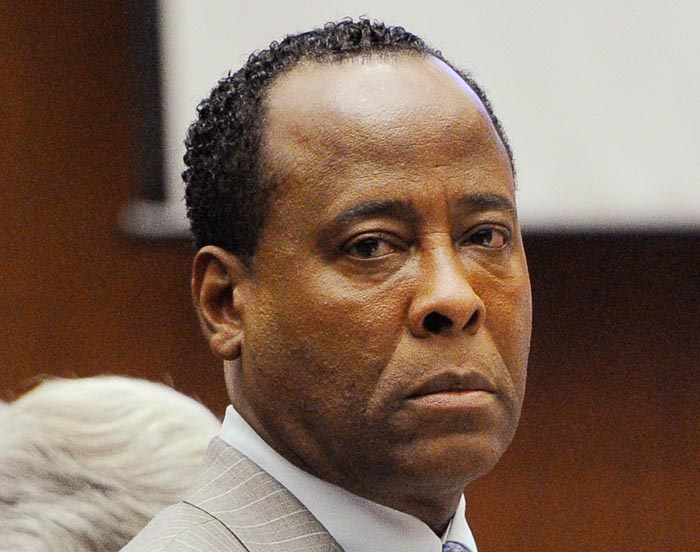 A Nov. 1, 2011, photo of Dr. Conrad Murray as he waits to leave the courtroom during the final stage of his defense in his involuntary manslaughter trial in the death of singer Michael Jackson.
