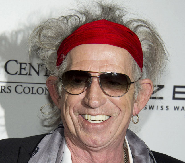 Honoree Keith Richards attends the Norman Mailer Center and Writers Colony annual gala in New York on Tuesday.
