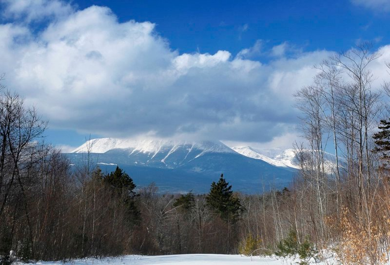 Robert F. Bukaty/The Associated Press Clouds hide the summit of Mount Katahdin in Baxter State Park in January in this view from land owned by Roxanne Quimby in Township 3, Range 8.
