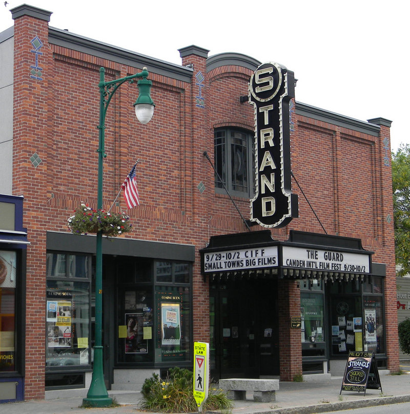 The historic Strand Theatre and the dining room of the Granite Inn.