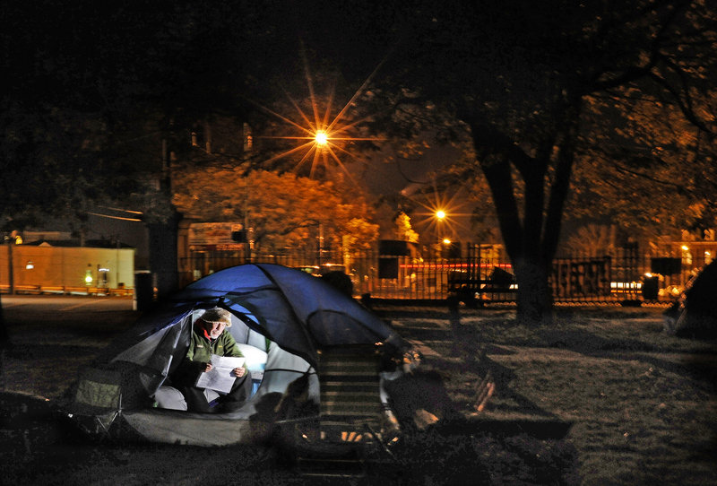 Weeks into the Occupy Maine encampment in Portland's Lincoln Park, Mainers are divided about how the demonstrators are being portrayed and treated.