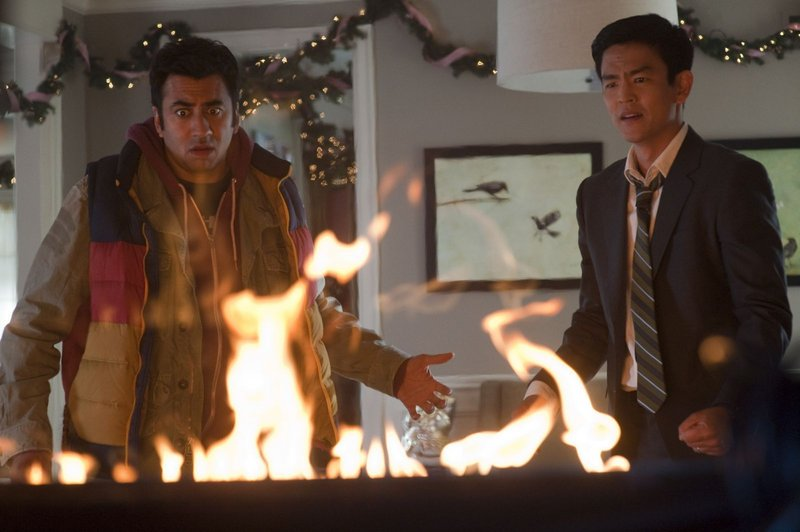 "Kal Penn, left, and John Cho are back as Kumar and Harold in ""A Very Harold & Kumar 3D Christmas."""