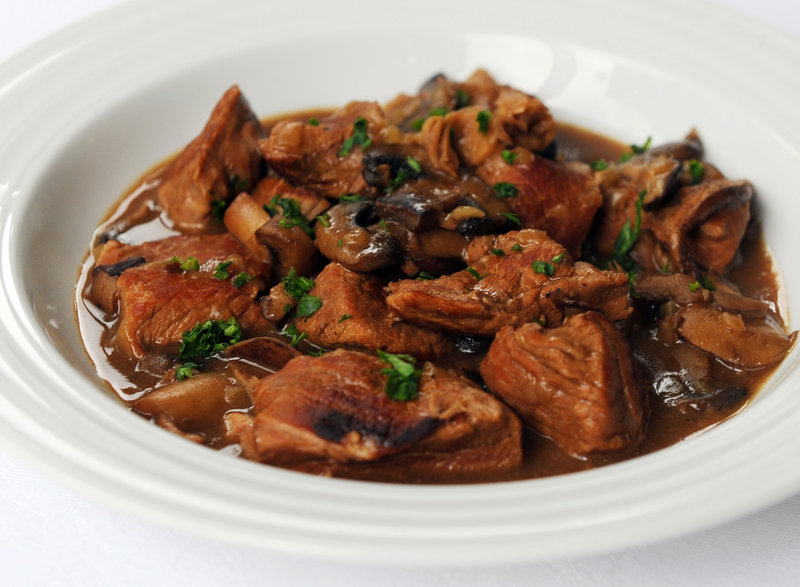 Veal and Mushroom Ragout: The mix of cremini, oyster and white button mushrooms complements the meat.