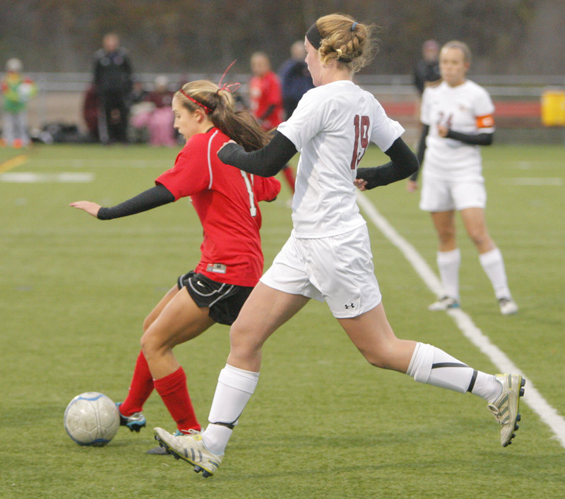 With Taylor Leborgne focusing on defense from her midfield position, the Red Storm have allowed just three goals in 10 games, and are one win away from a second straight Class A championship.