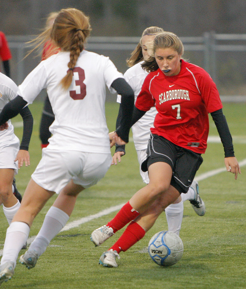 Since Sarah Martens, above, and fellow midfielder Taylor Leborgne had their roles redefined, Scarborough has won 10 straight games.